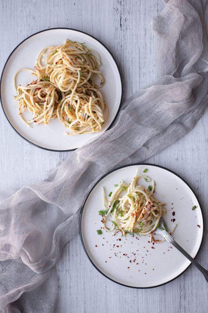 pasta, basil, kitchen