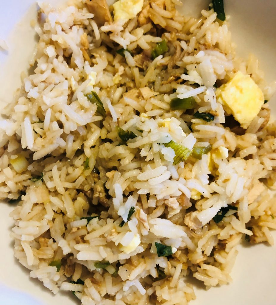 Fried rice made in an instant pot